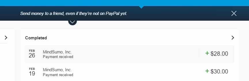 Mindsumo payment proof