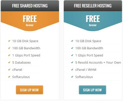 Free webhosting Instafree review