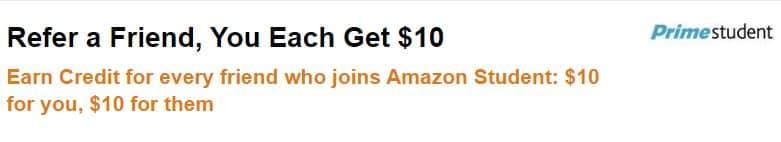 Amazon Prime Referral Student bonus