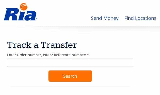 Ria Money Track Transfer