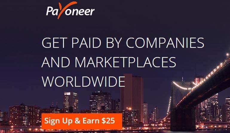 Payoneer free 25 refer friend reward
