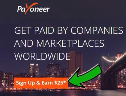 Sign up for Payoneer account and Mastercard