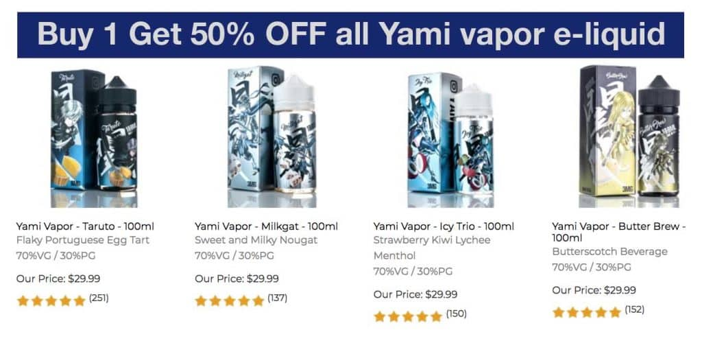 Yami vapor coupon