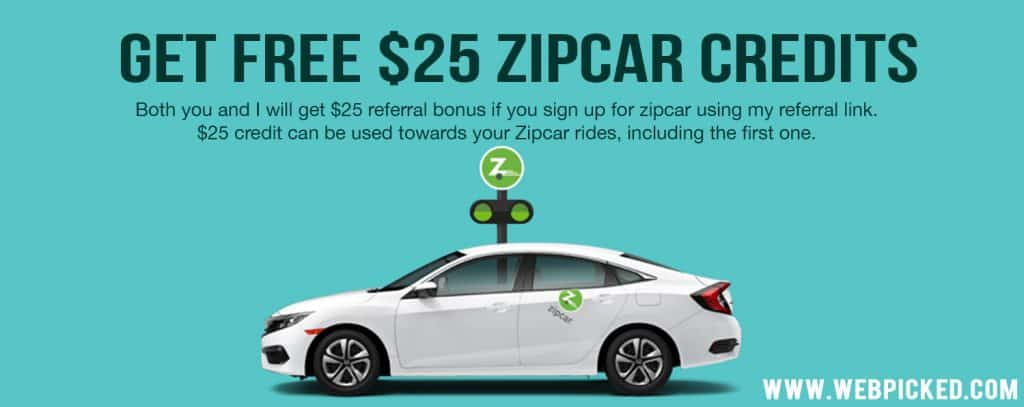 zipcar referral credit
