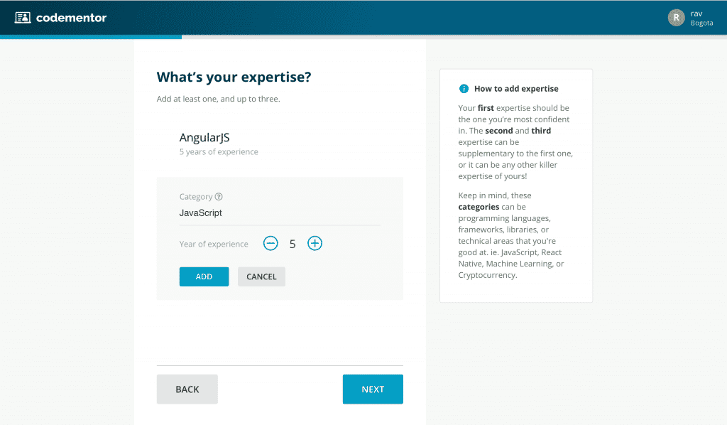 Codementor expertise