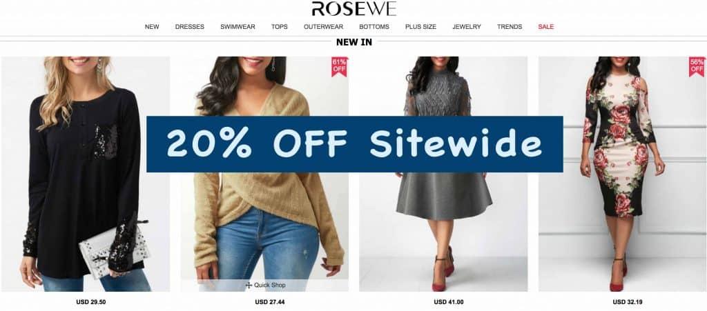 rosewe promo code